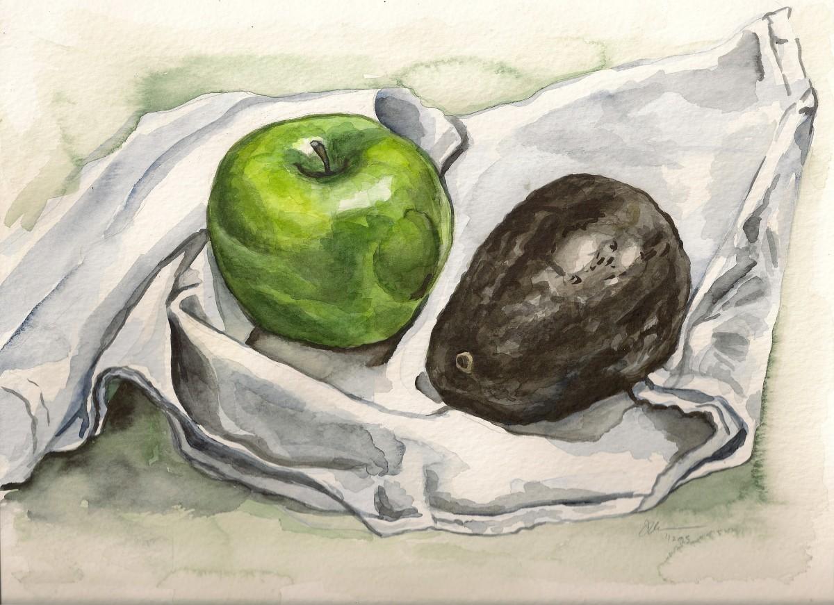 Apple and Avocado by Sonya Kleshik
