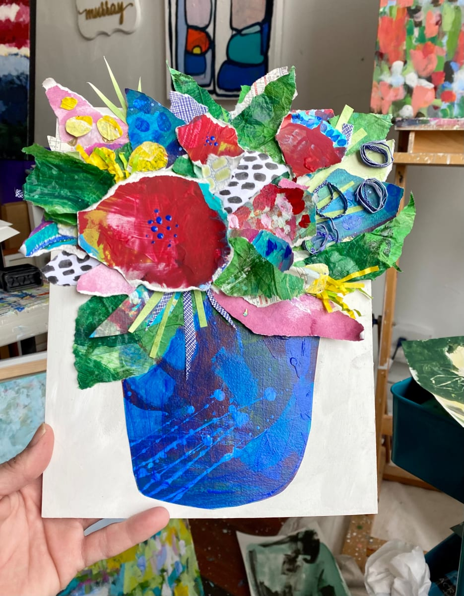 Flower Collage Commission by Beth Murray