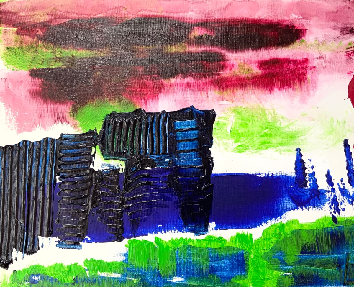 blue towers by Paige Zirkler