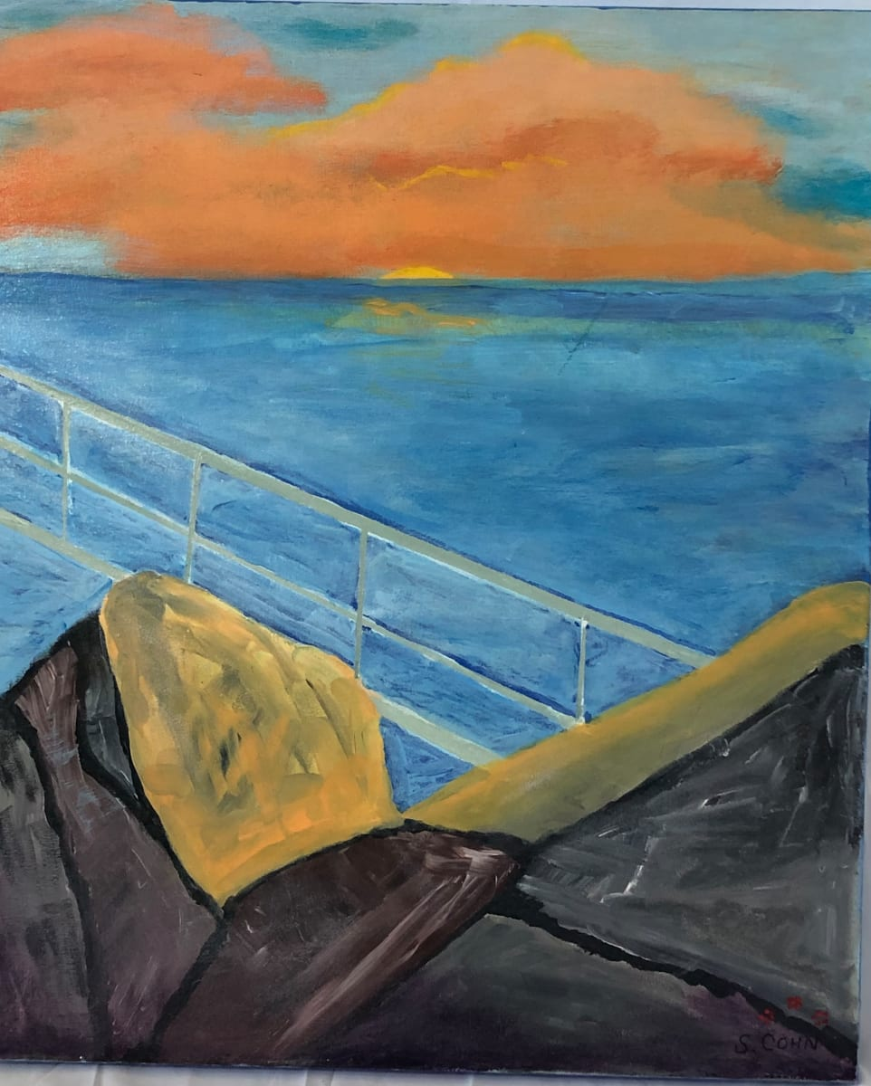 sunset harbor by Susan Soffer Cohn