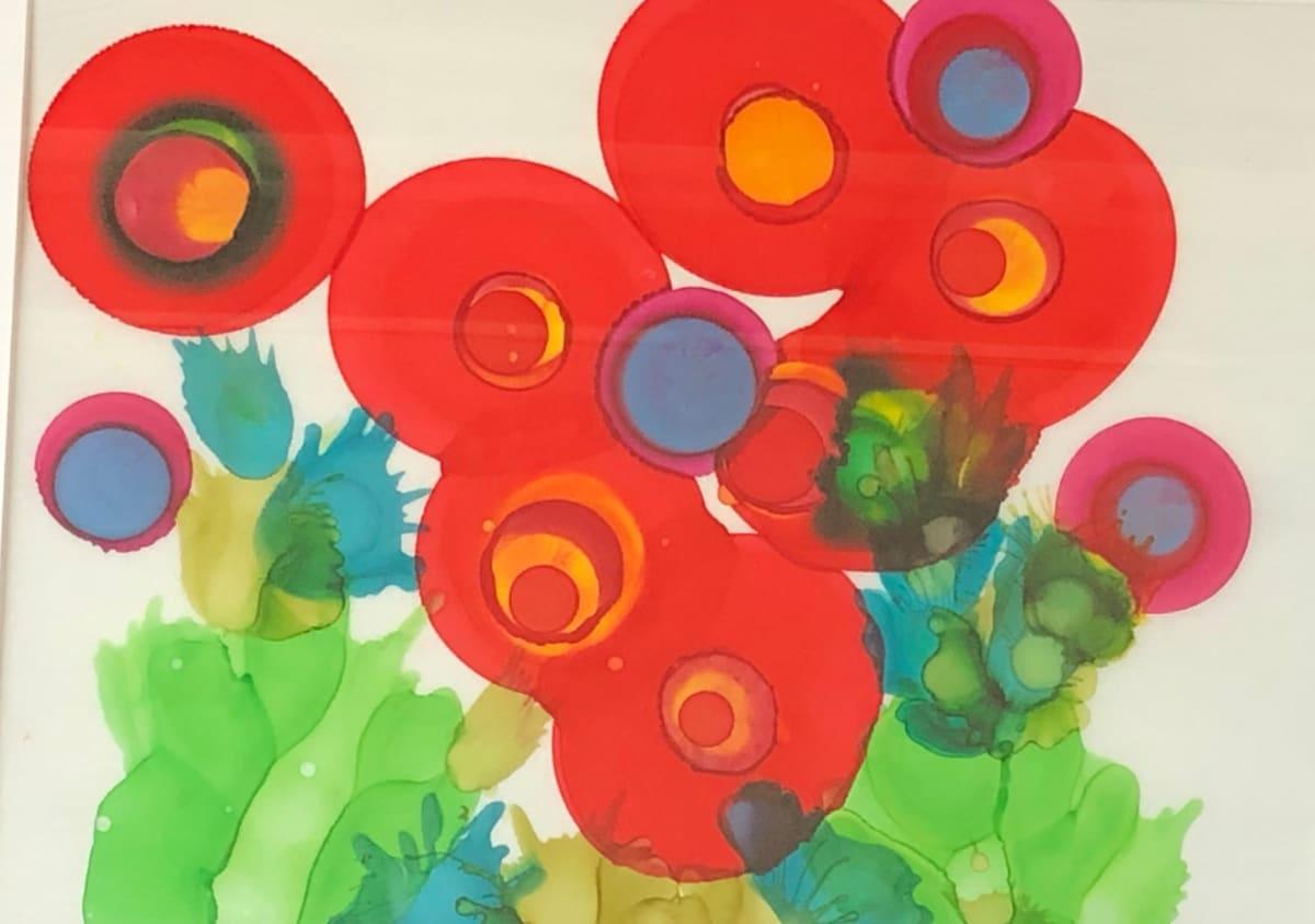 Red Garden Series 5 by Susan Soffer Cohn