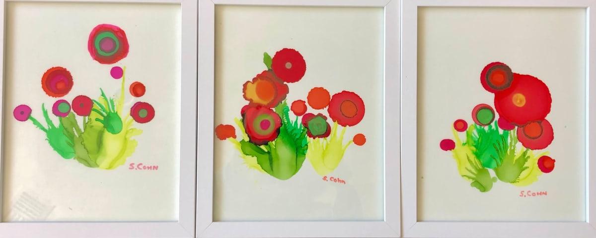 Poppy Triptych by Susan Soffer Cohn
