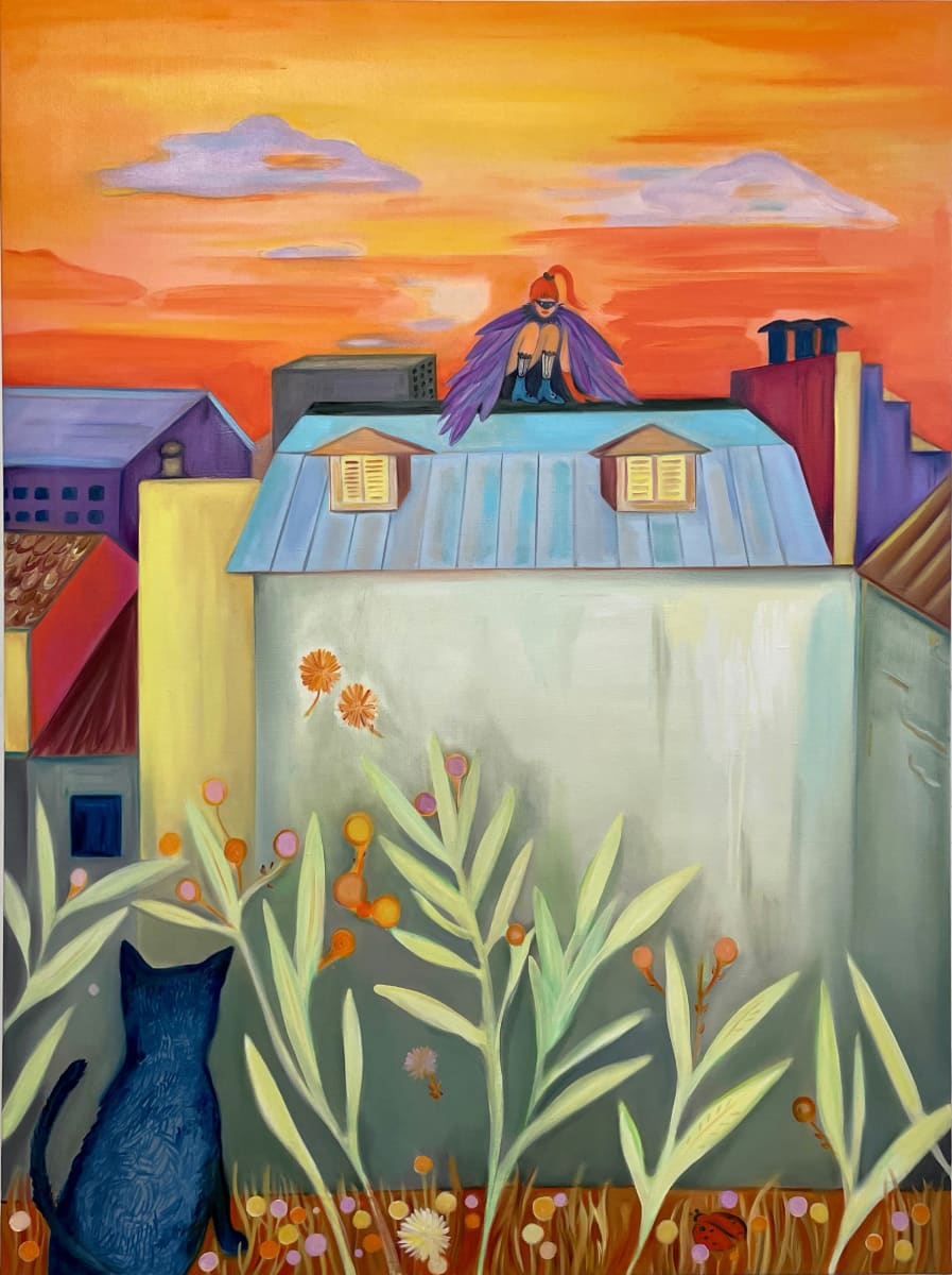 On The Roofs Of The City by Nastaran Shahbazi