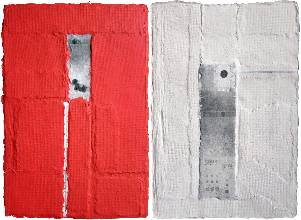 advance and rewind (diptych) by terri bell