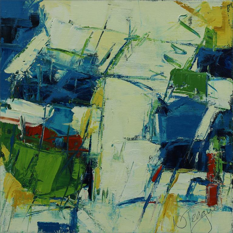 Deep Waters Green Pastures 1 by Nancy Teague