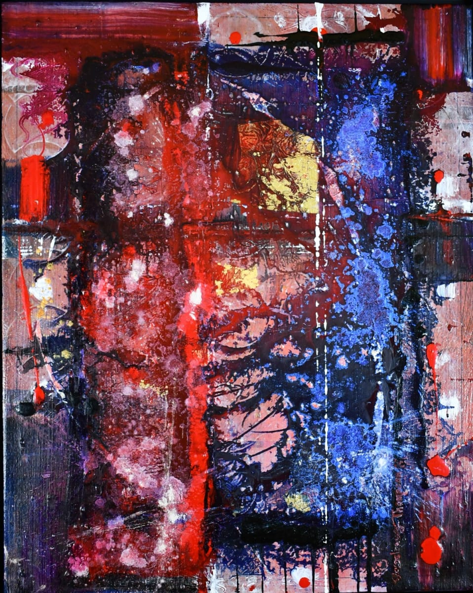 ART PROMOTES WELLNESS .... Rupture 2   H74260521 by HB Barry Strasbourg-Thompson BFA  Image: A Fine Art practice can promote Wellness through self awareness. I painted this work to commit to working in the duality of both Body and Soul simultaneously.  It includes a way of working with art materials in a more biological way. This work was pivotal in altering a life focus and a focus of my fine art studio and teaching practice.