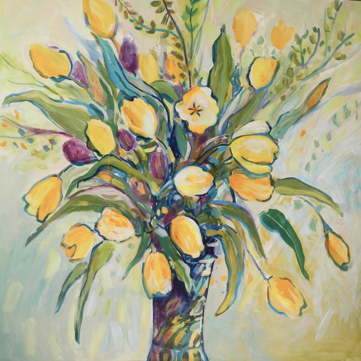 Yellow Tulips by Flora Doehler