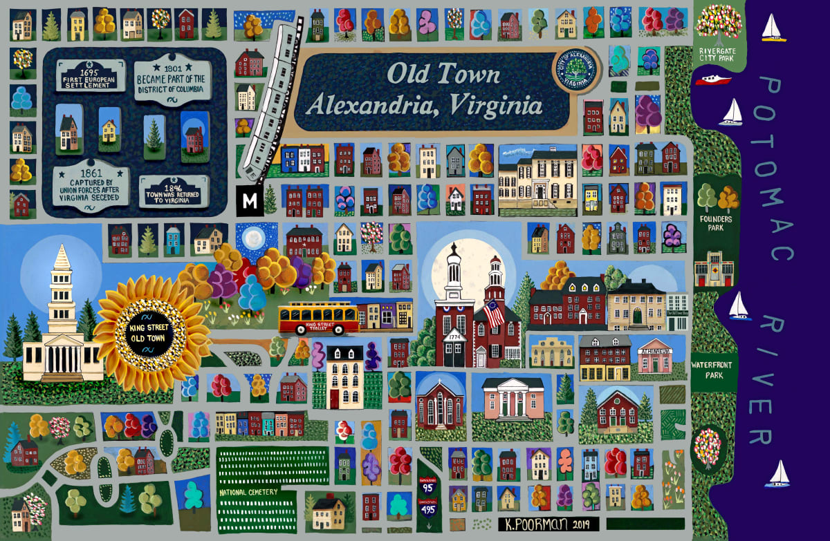 Old Town Alexandria by Kevin Poorman