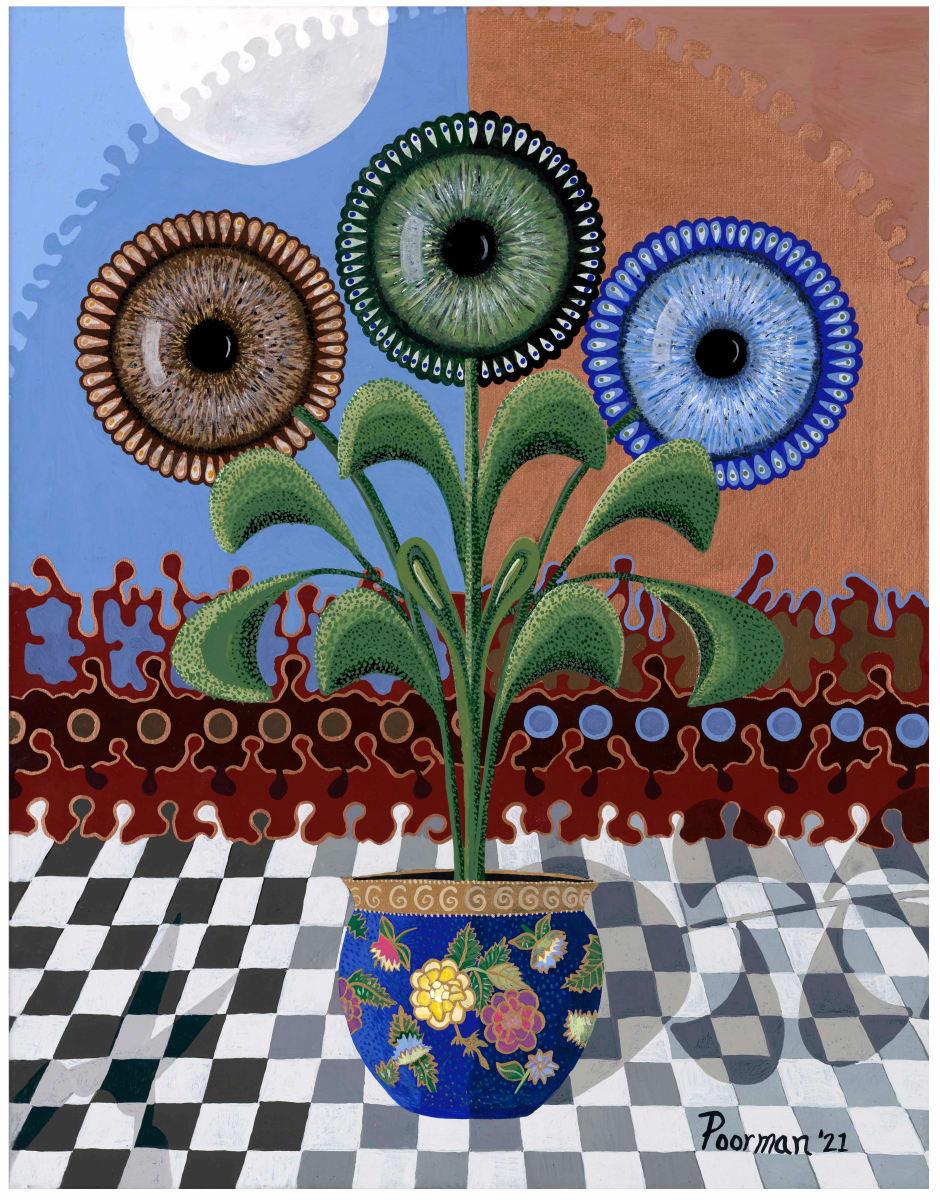 Pruning Irises by Kevin Poorman