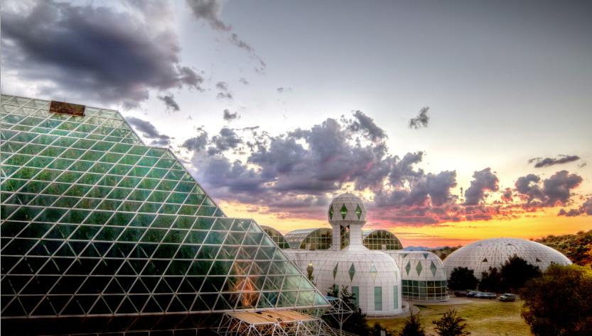 Sunset at Biosphere 2