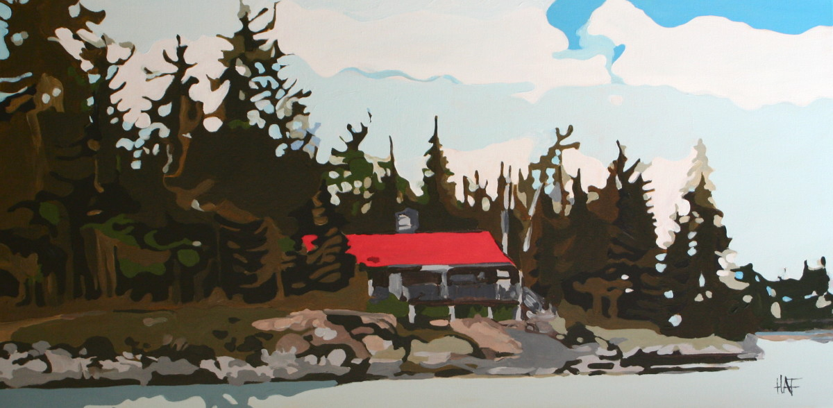 Red Roof by Holly Ann Friesen