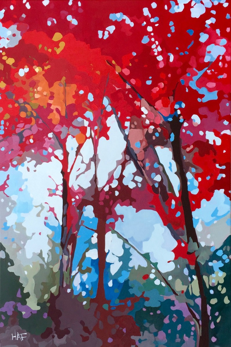 Red Canopy by Holly Ann Friesen