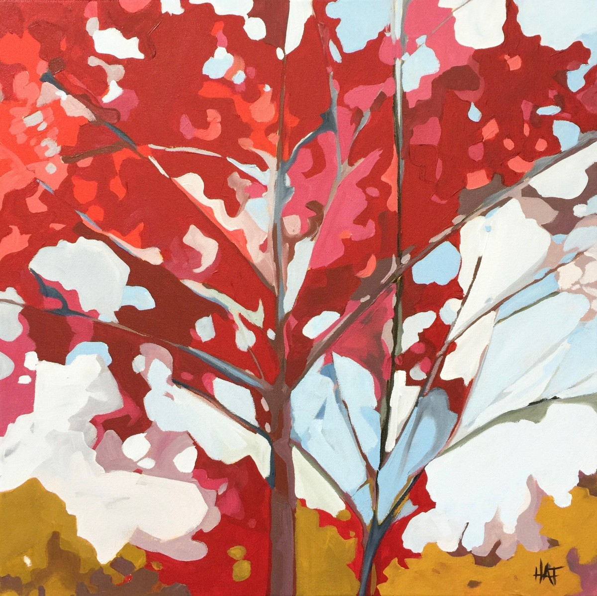Red Canopy 2 by Holly Ann Friesen