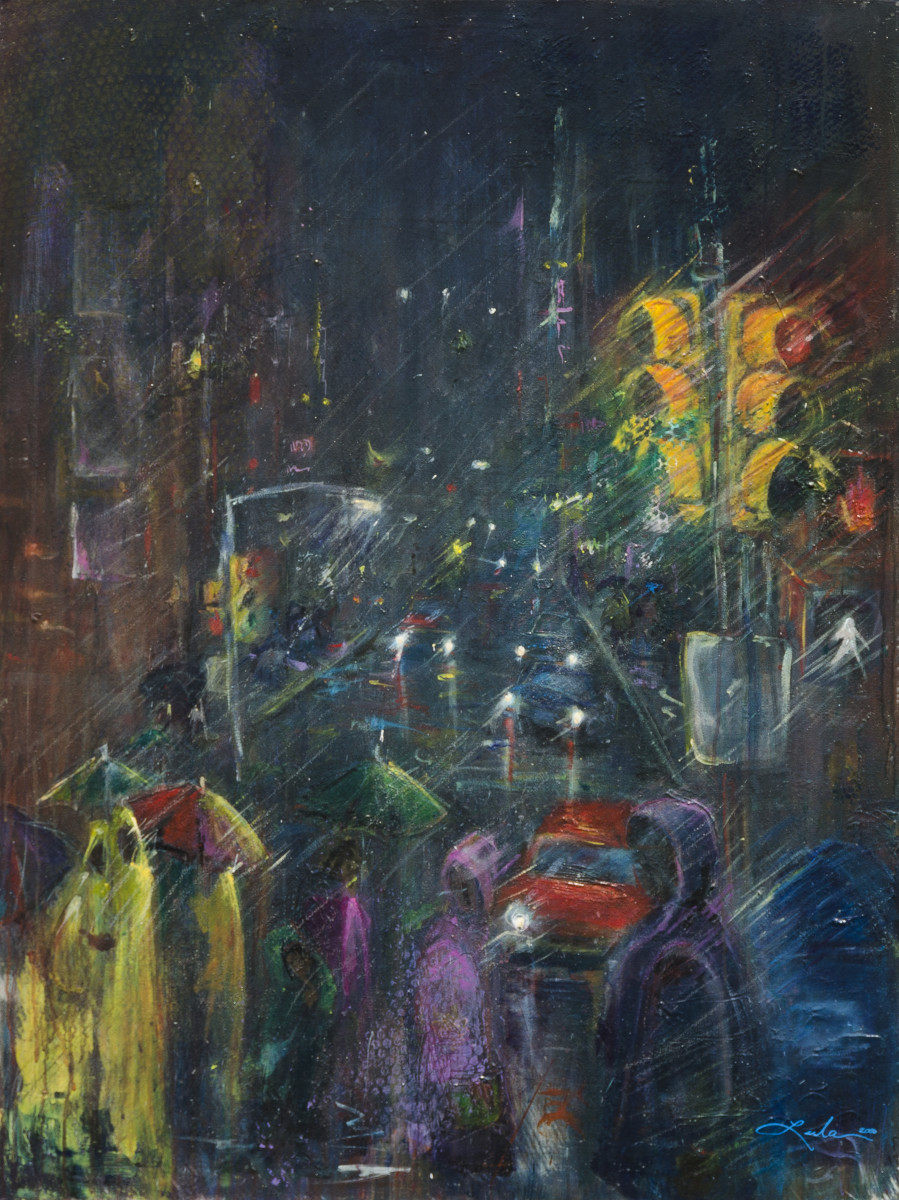 2d083a71c Reflections of a Rainy Night by Leela Payne | Artwork Archive