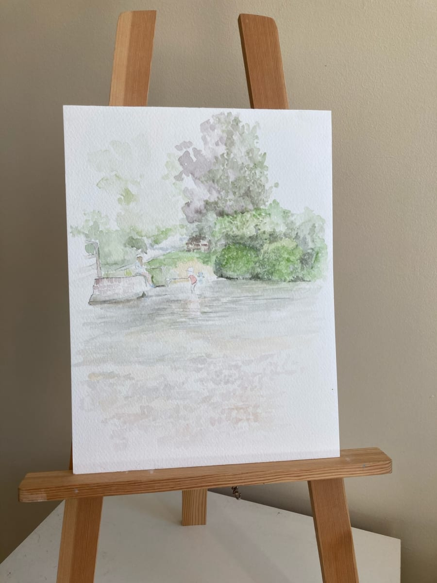 Summer days watercolour sketch by Ally Tate