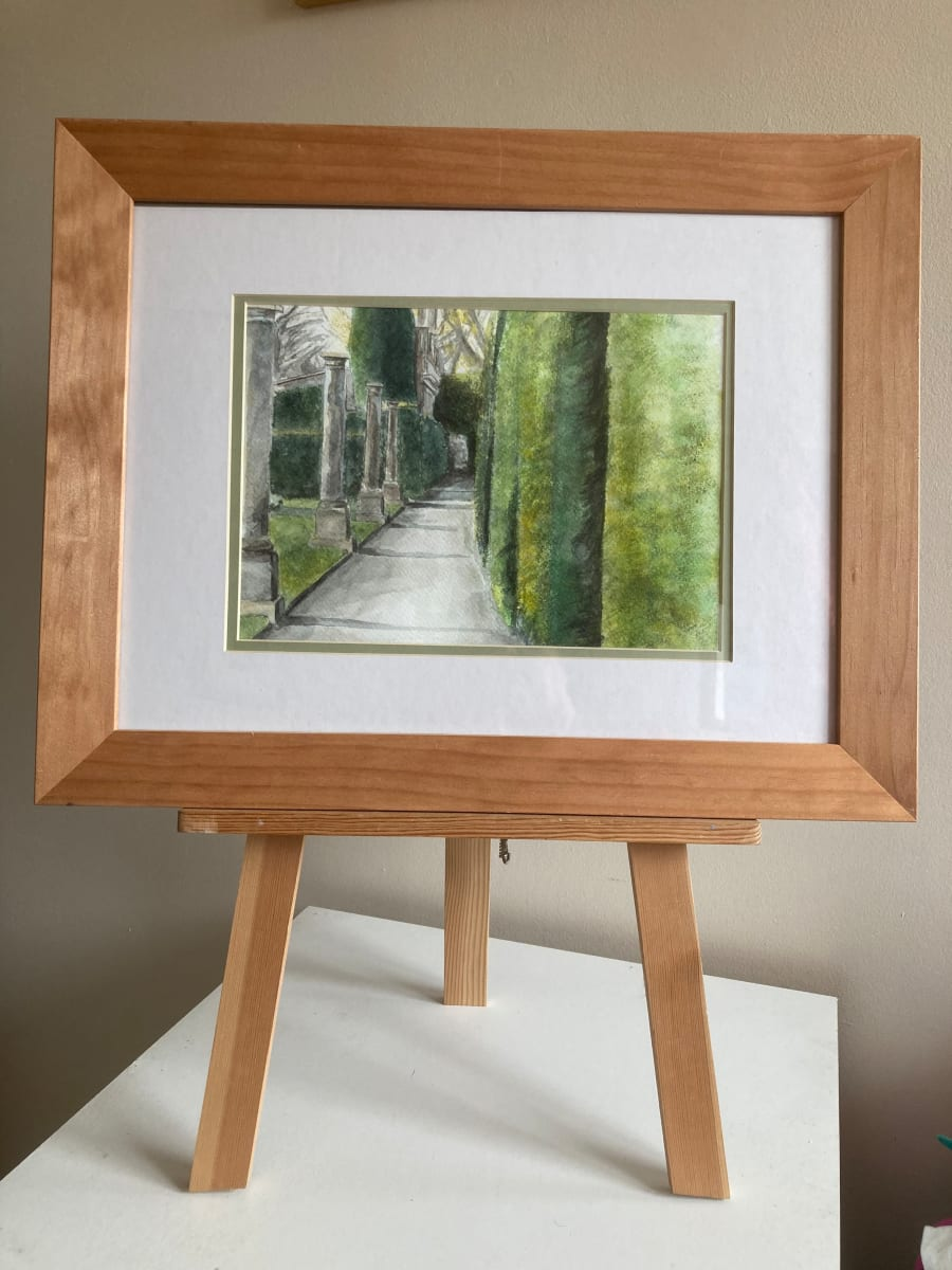 Path View (Montecute) by Ally Tate  Image: Frame for display only, picture will be mounted and unframed