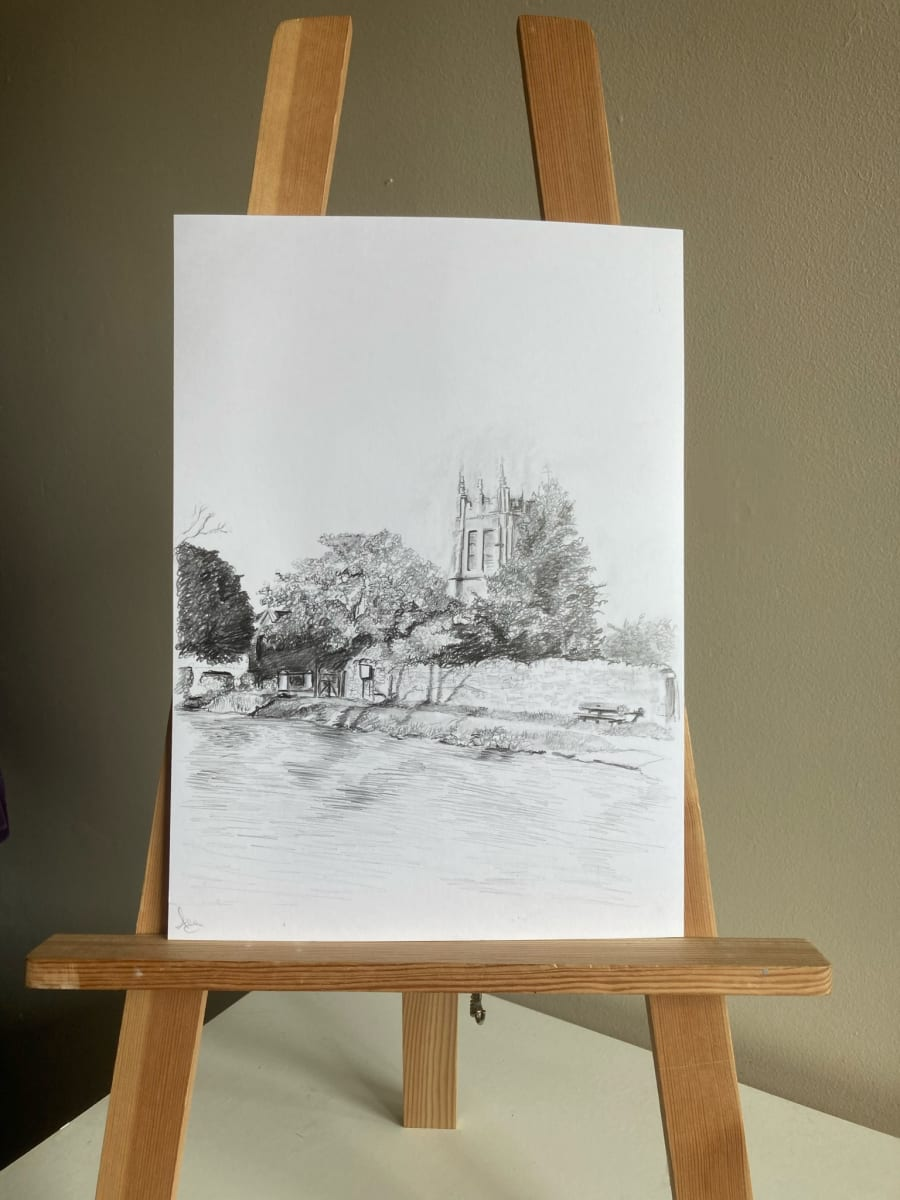 St Mary's church, Charminster (pencil) by Ally Tate