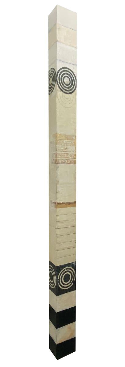 Wall Column Black and White Target by Graceann Warn