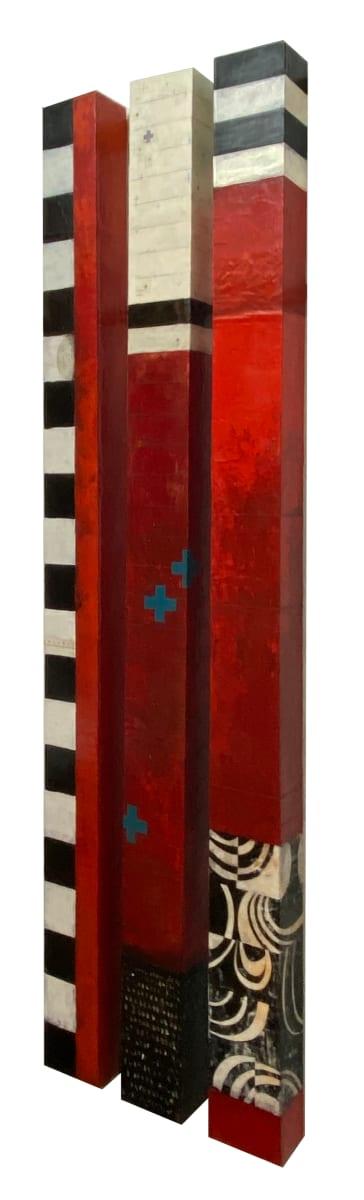 Wall Columns (Red Set) by Graceann Warn