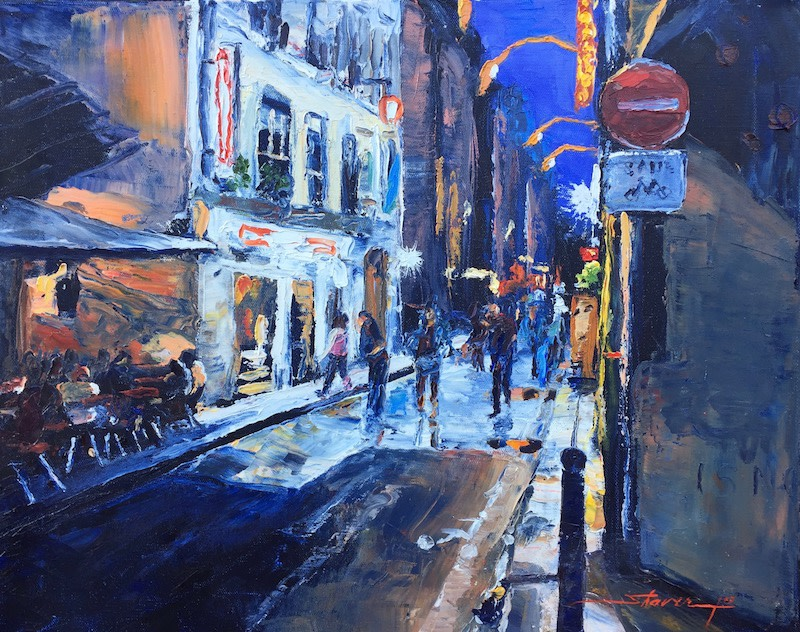 Dusk in Paris by Sharon Rusch Shaver
