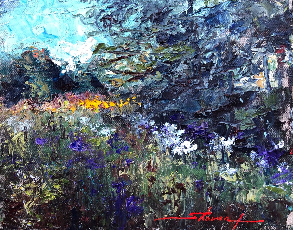 Ironweed in BLoom by Sharon Rusch Shaver