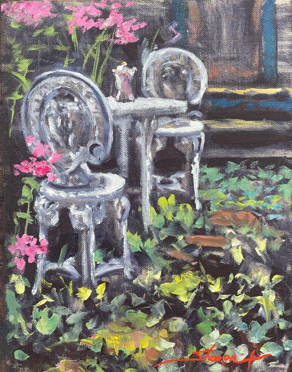 Plein Summer Garden by Sharon Rusch Shaver