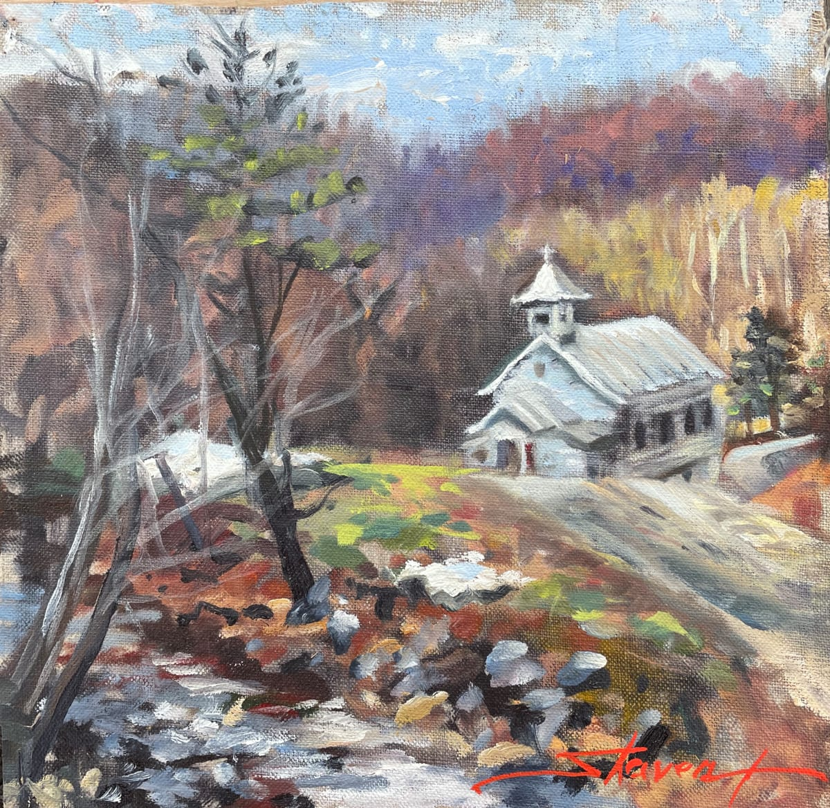 Plein WV Church by Sharon Rusch Shaver