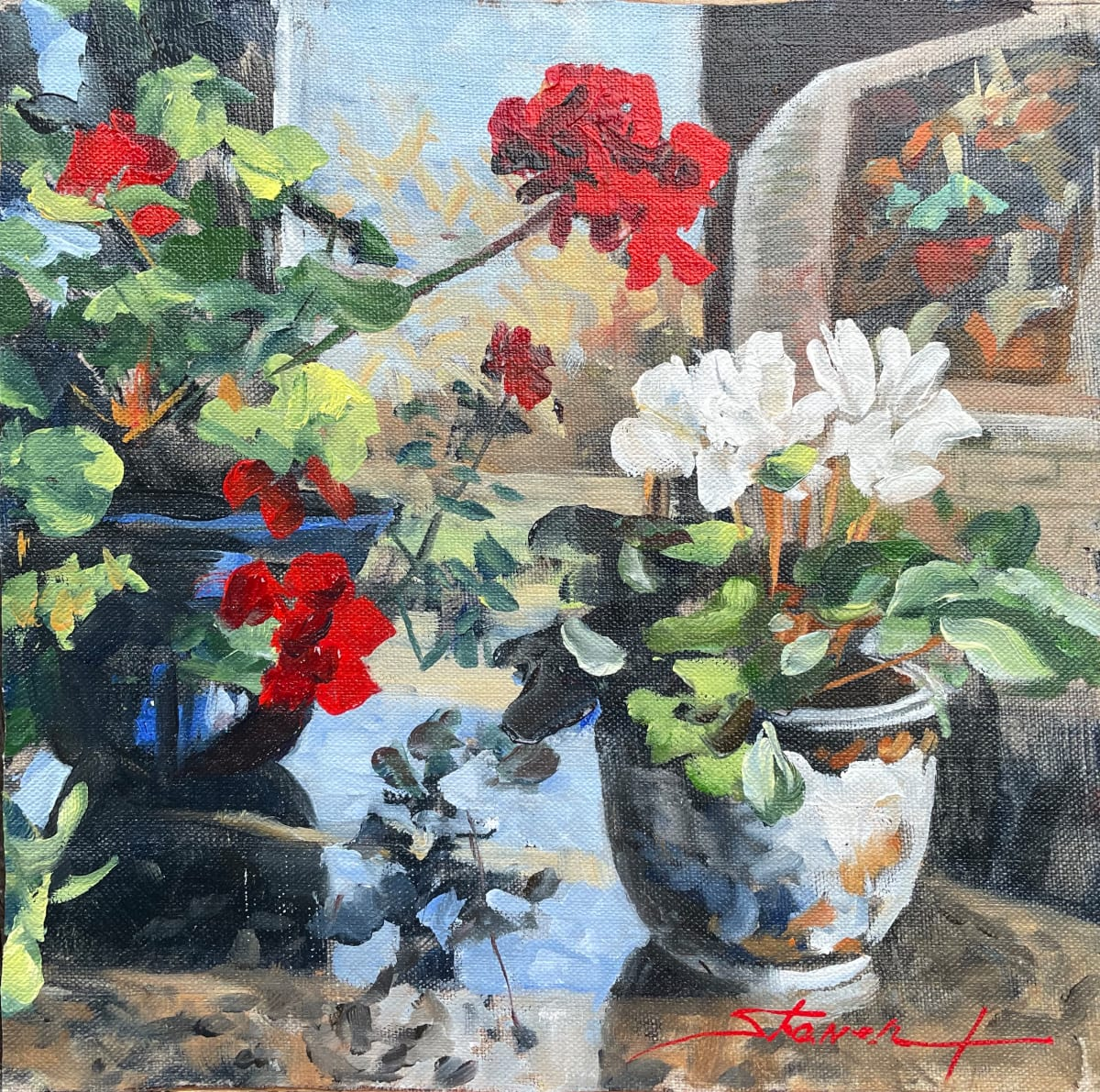 Winter Blooms Sketch by Sharon Rusch Shaver