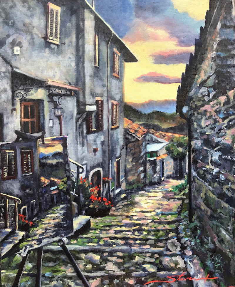 Painting in Italy by Sharon Rusch Shaver