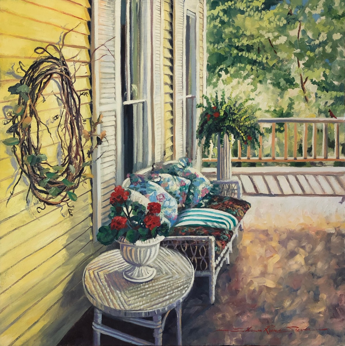 Jan's Porch by Sharon Rusch Shaver