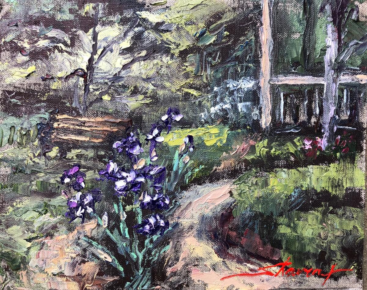 Plein Garden Iris by Sharon Rusch Shaver