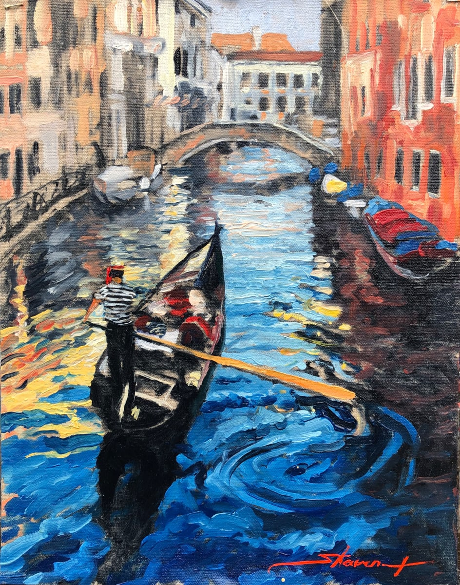 """""""Ride the Canals Sketch"""" by Sharon Rusch Shaver"""