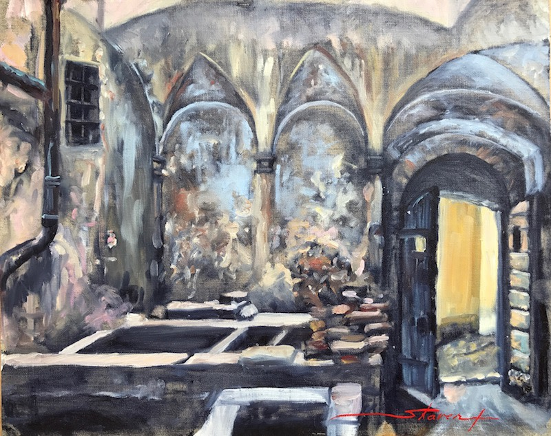 Medieval Laundry by Sharon Rusch Shaver