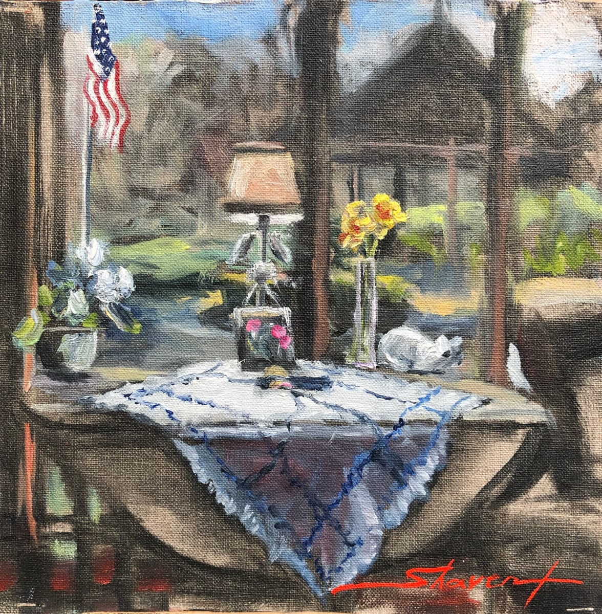 """""""Plein Spring Still-life"""" by Sharon Rusch Shaver"""