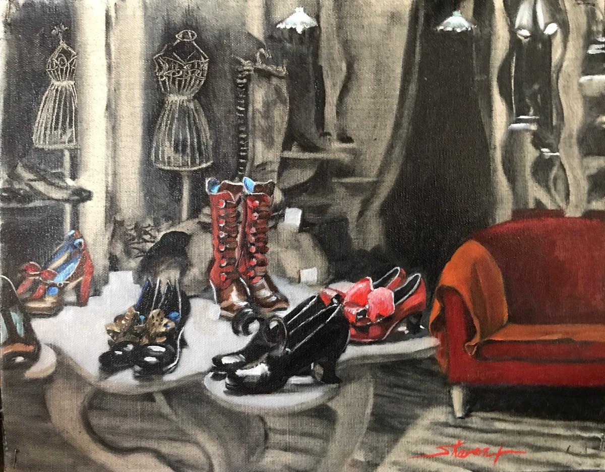 """""""Venetian Shoe Store"""" by Sharon Rusch Shaver"""