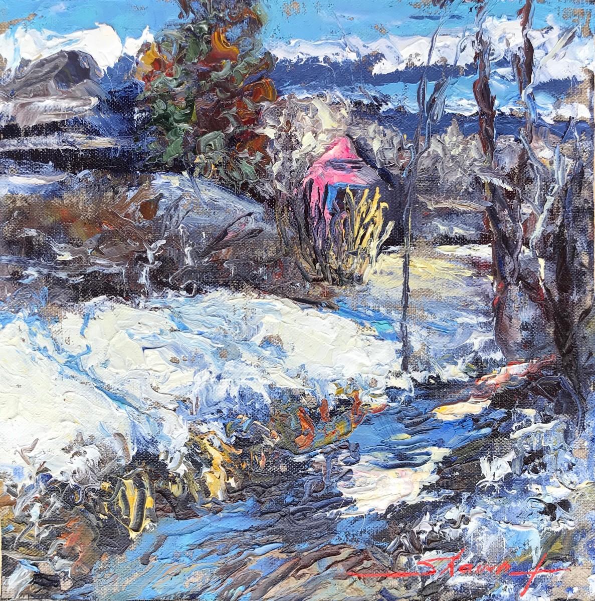 Winter Plein Air by Sharon Rusch Shaver