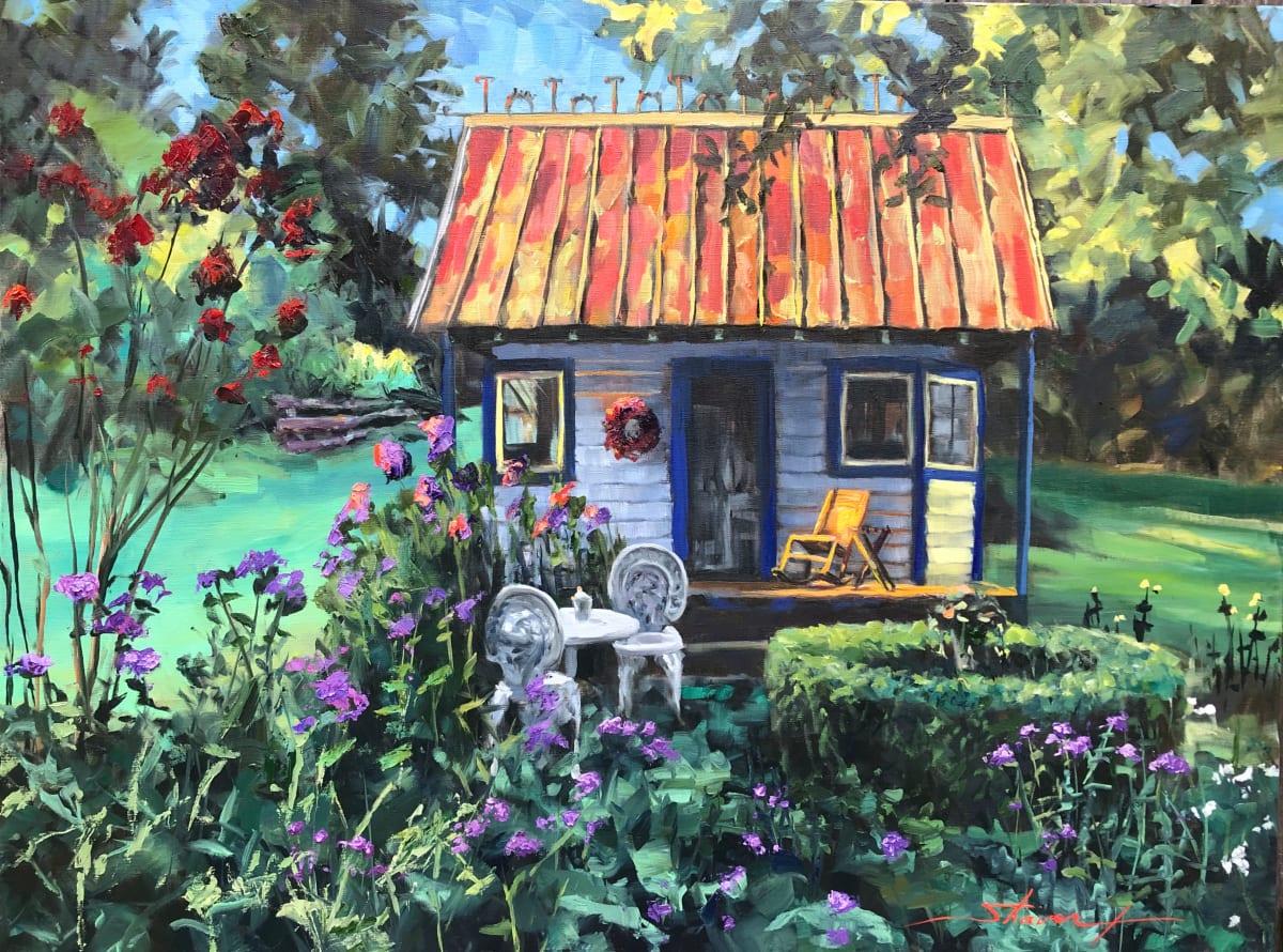 Garden Chaos by Sharon Rusch Shaver