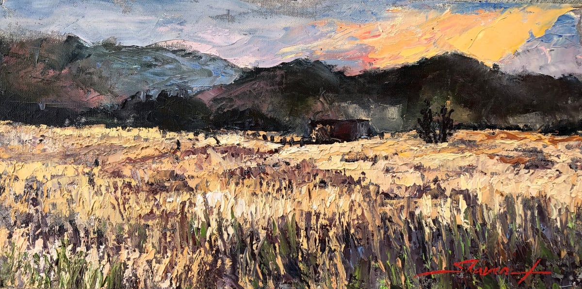 """Plein Colorado Dusk"" by Sharon Rusch Shaver"