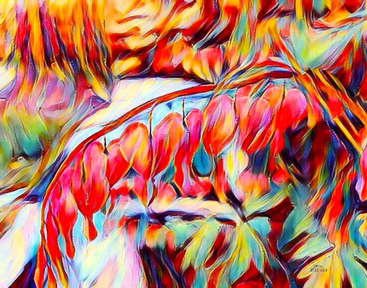 Bleeding Hearts, After Van Gogh