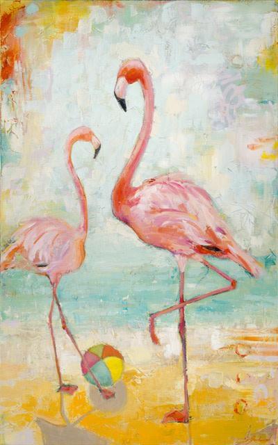Beachball Flamingos