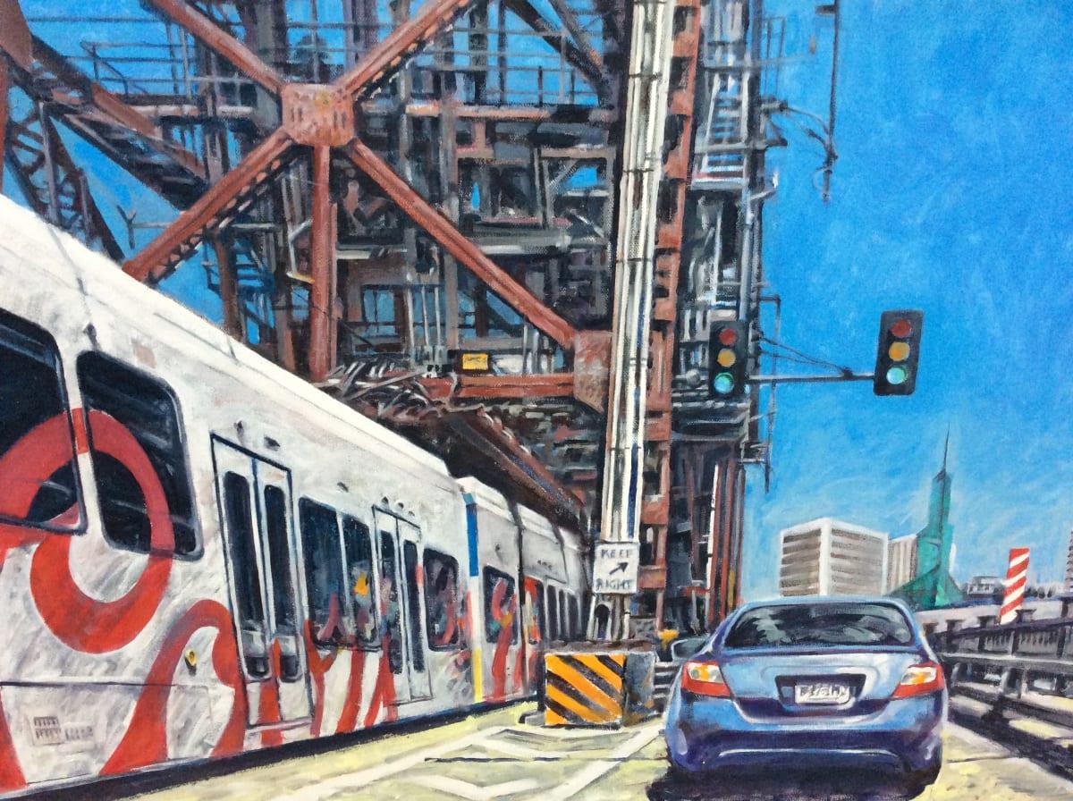 Crossing the Steel Bridge by Dennis Anderson