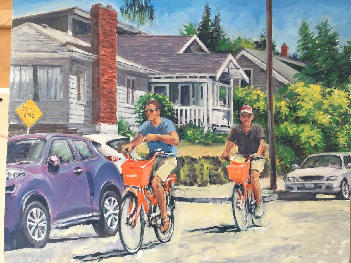 Bike in the Hood by Dennis Anderson