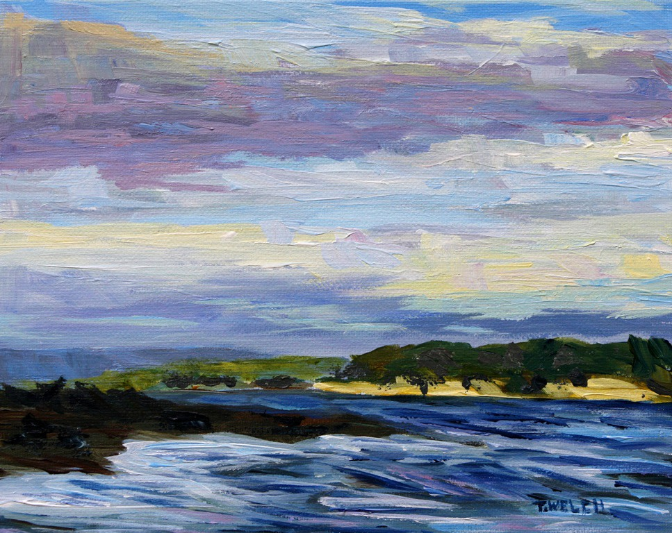 December Sea Vancouver Island by Terrill Welch