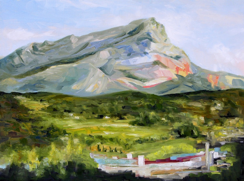 Evening with Cezanne's Mountain
