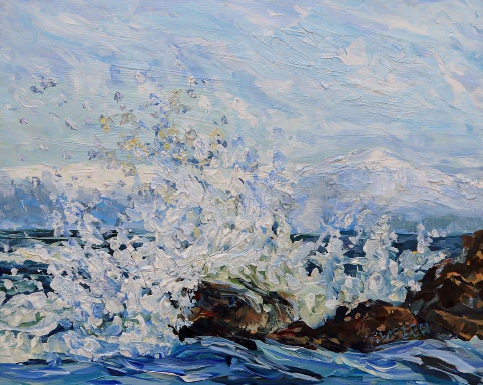 High Winds Strait of Georgia Mayne Island BC by Terrill Welch