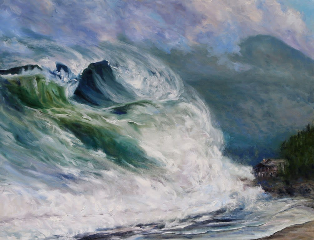 Last View Chesterman Beach Tofino Tsunami by Terrill Welch