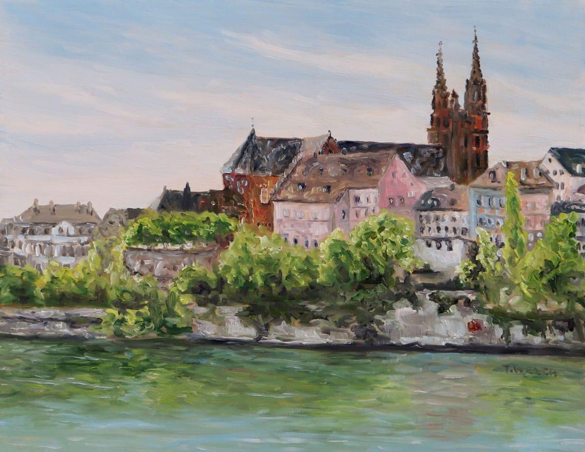 Rhine River in Basel Switzerland by Terrill Welch