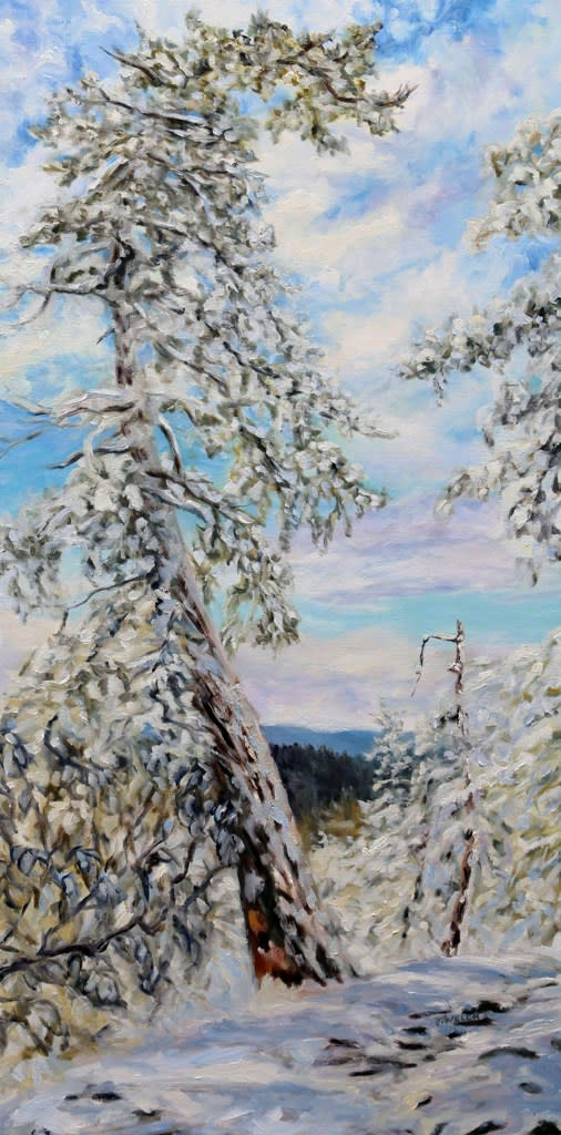 Winter with the Old Fir on the Ridge by Terrill Welch
