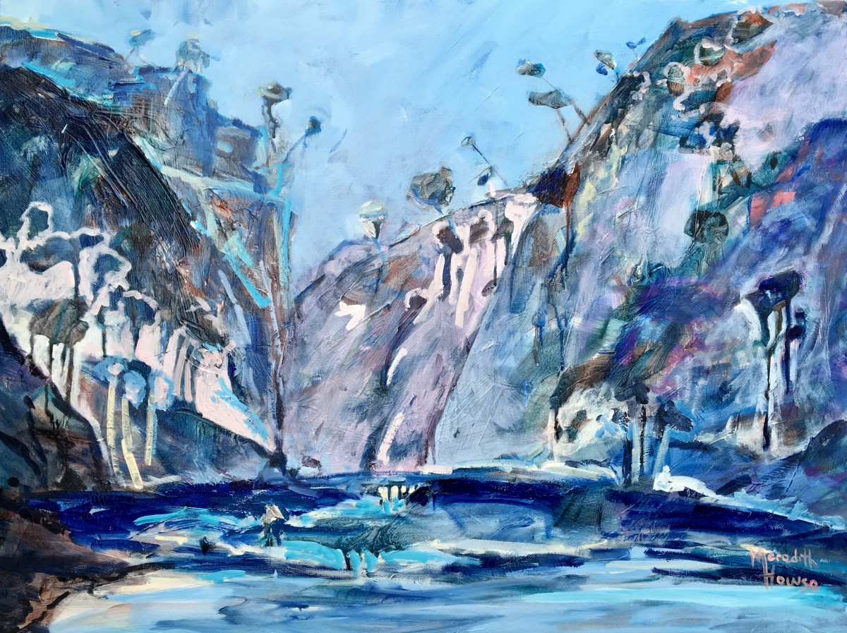 Blue Craggy Cliffs by Meredith Howse