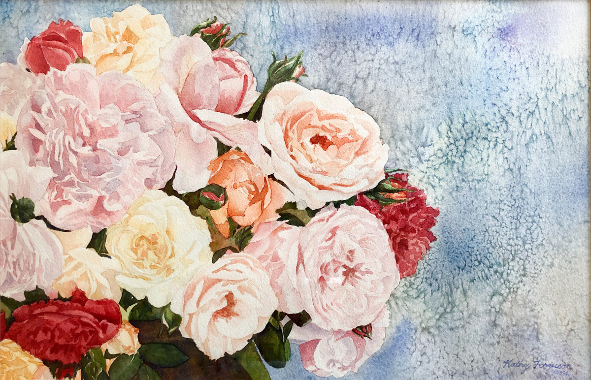 Heirloom Roses by Kathy Ferguson